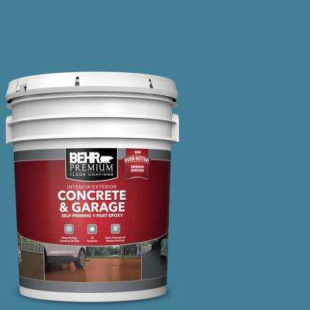 5 gal. #PFC-58 Alpine Sky 1-Part Epoxy Satin Interior/Exterior Concrete and Garage Floor Paint