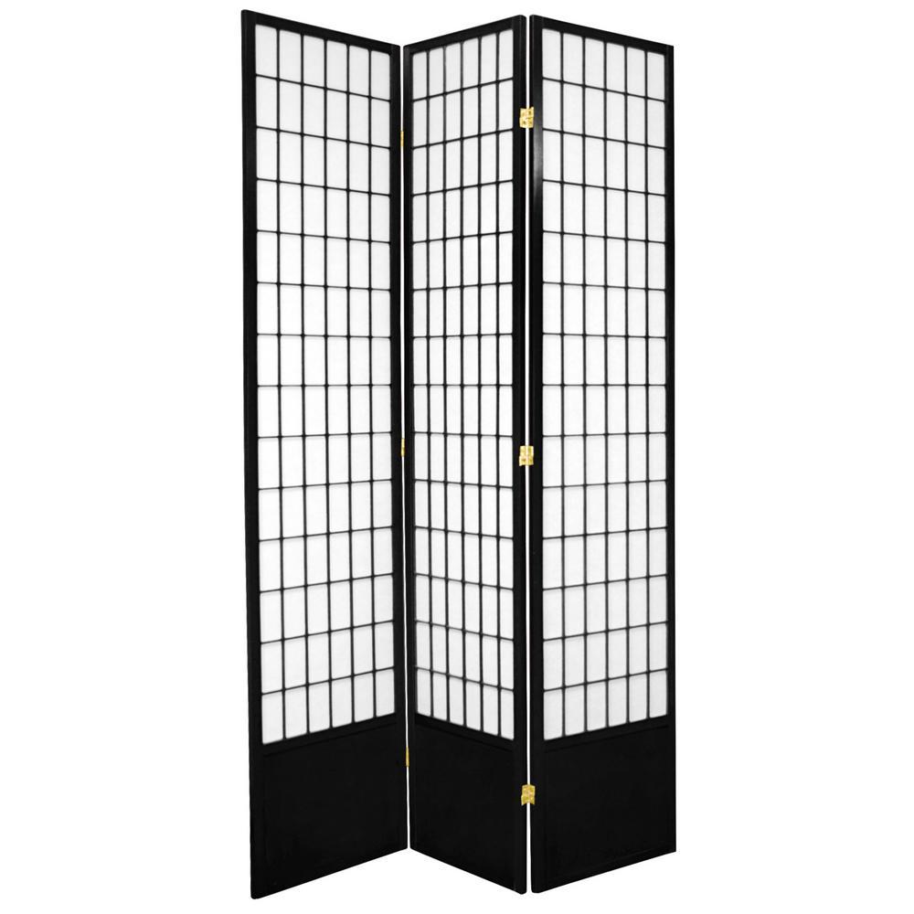 7 ft. Black 3-Panel Room Divider