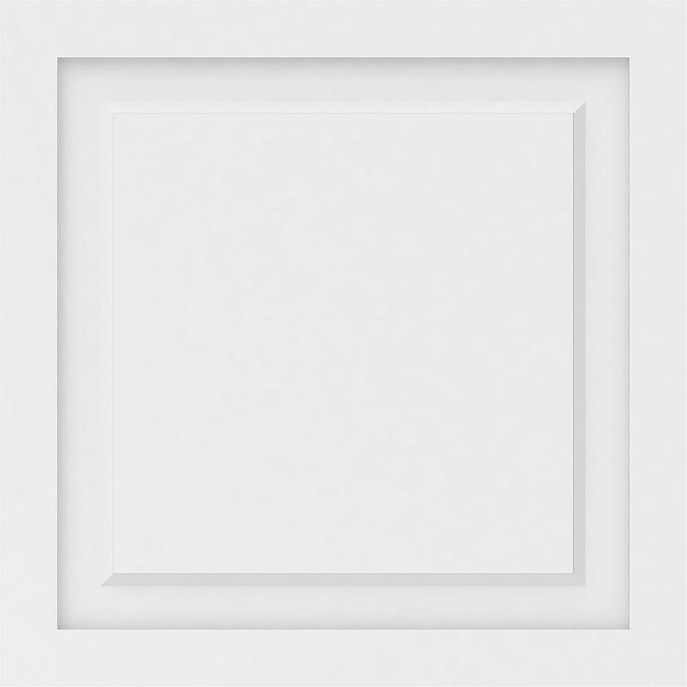 Ekena Millwork 5/8 in. x 2 ft. x 2 ft. Harrison Raised Panel White PVC Decorative Wall Panel