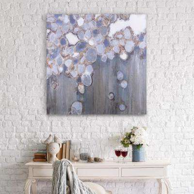 Indigo Shells Modern Canvas Wall Art