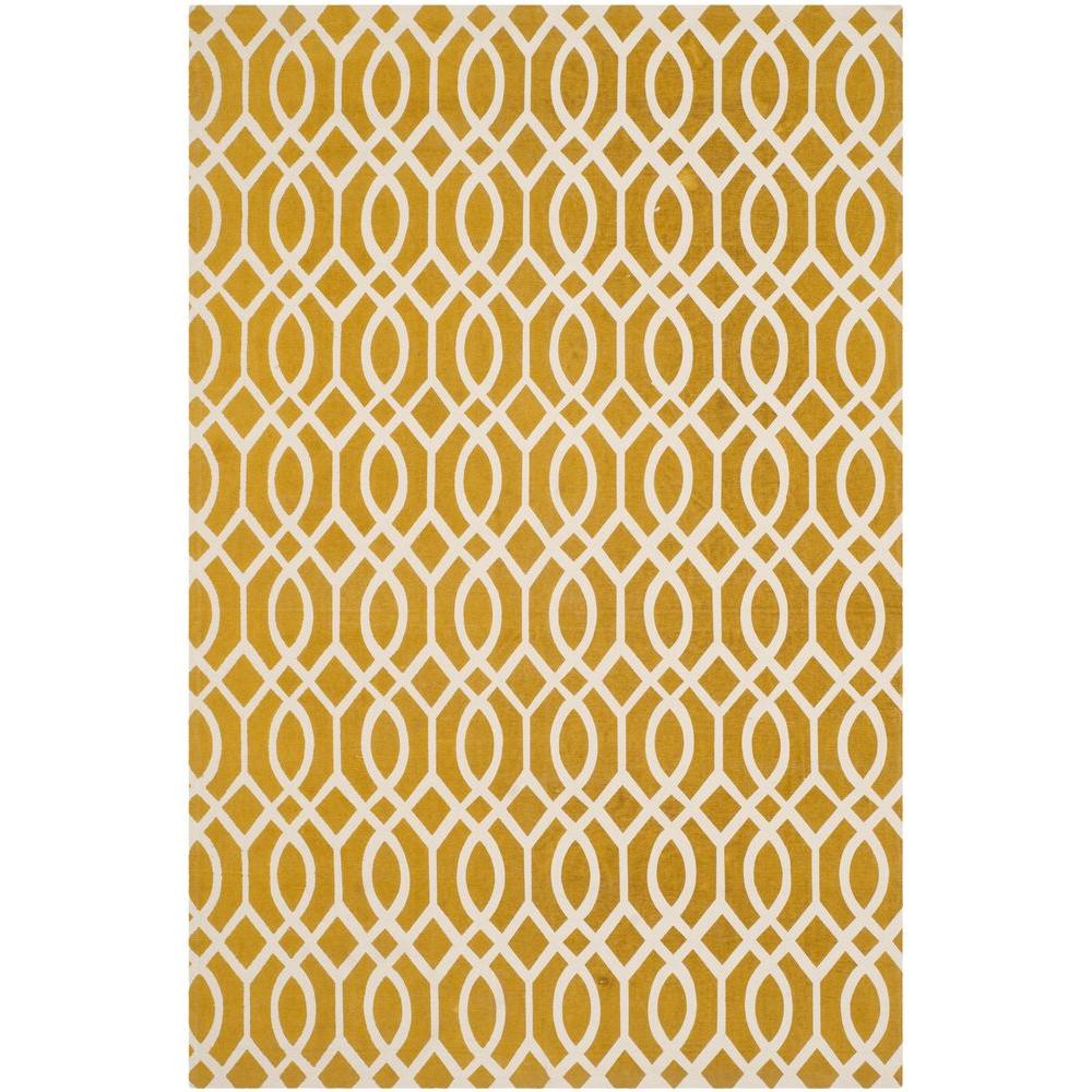 Safavieh Cedar Brook Citron/Ivory 8 ft. x 11 ft. Area Rug