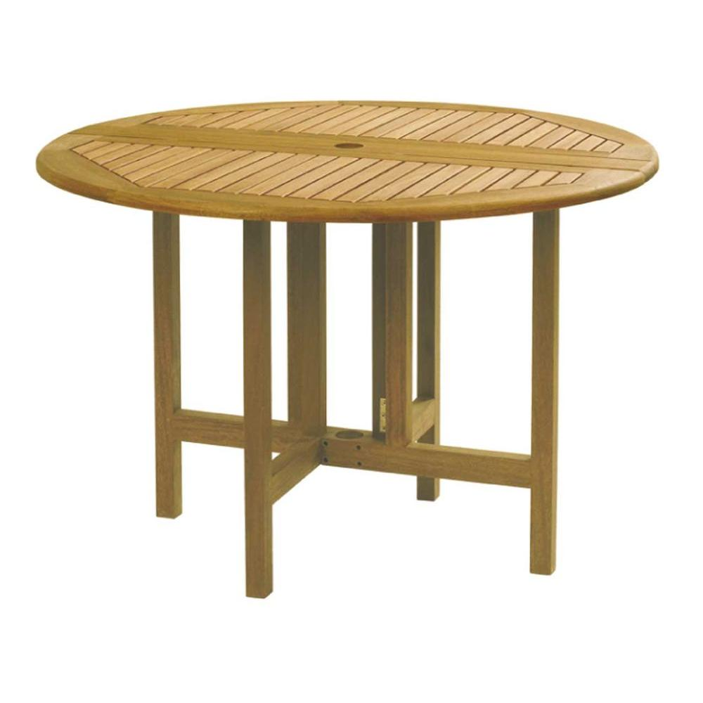 Celebration Drop Leaf Round Patio Table The Home Depot