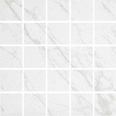 Brilliance White 12 in. x 12 in. x 9mm Porcelain Mesh-Mounted Mosaic Tile (5 sq. ft. / case)