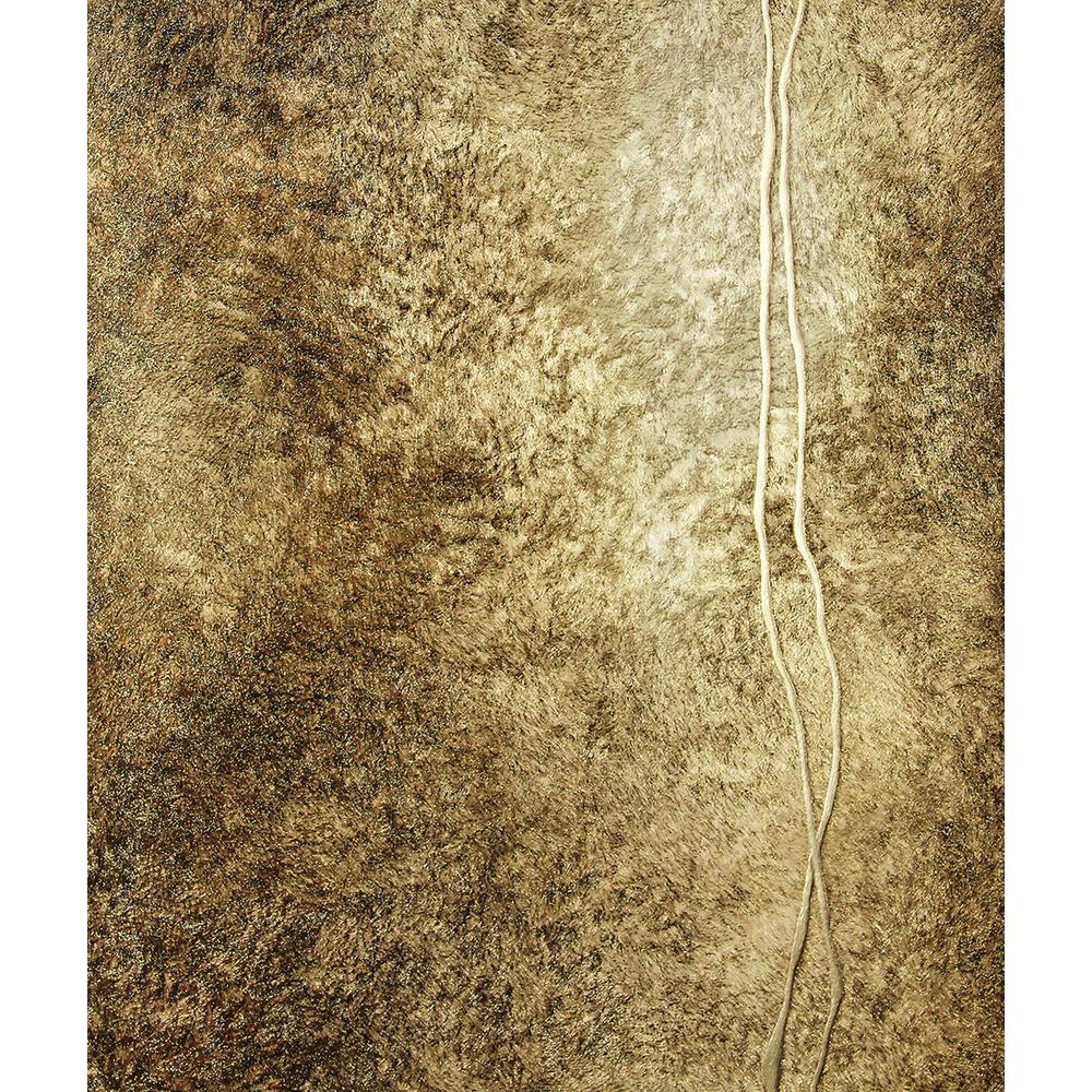 8 in. x 10 in. Matera Brown Fur Line Wallpaper Sample