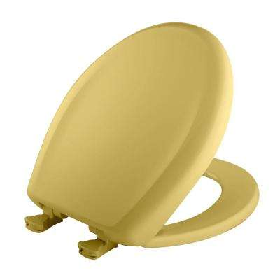 Round Closed Front Toilet Seat in Yellow