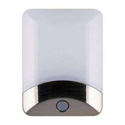 Color-Changing LED Night Light, Brushed Nickel