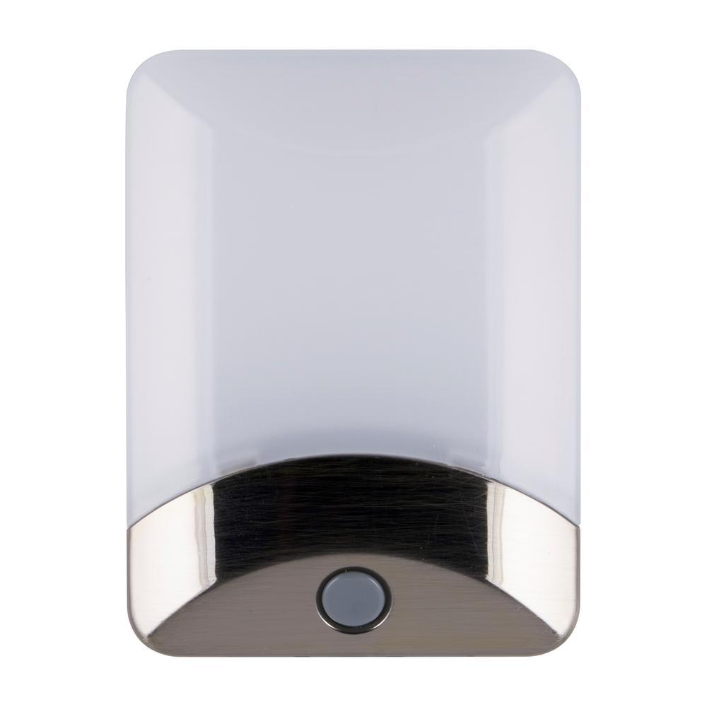 Color-Changing LED Night Light, Brushed Nickel