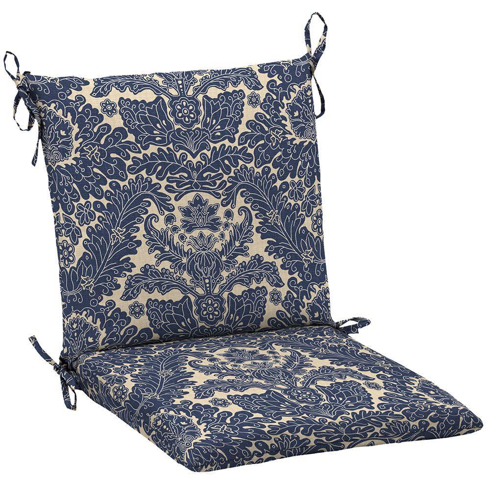 Hampton Bay 20 X 17 Outdoor Chair Cushion In Standard Chelsea Damask