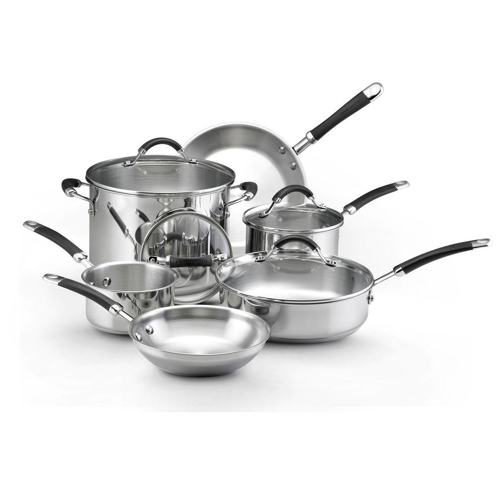 KitchenAid 10-Piece Stainless Steel Cookware Set-DISCONTINUED