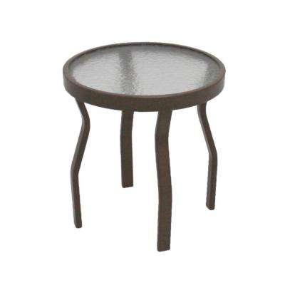 Marco Island 18 in. Brownstone Acrylic Top Commercial Patio Side Table