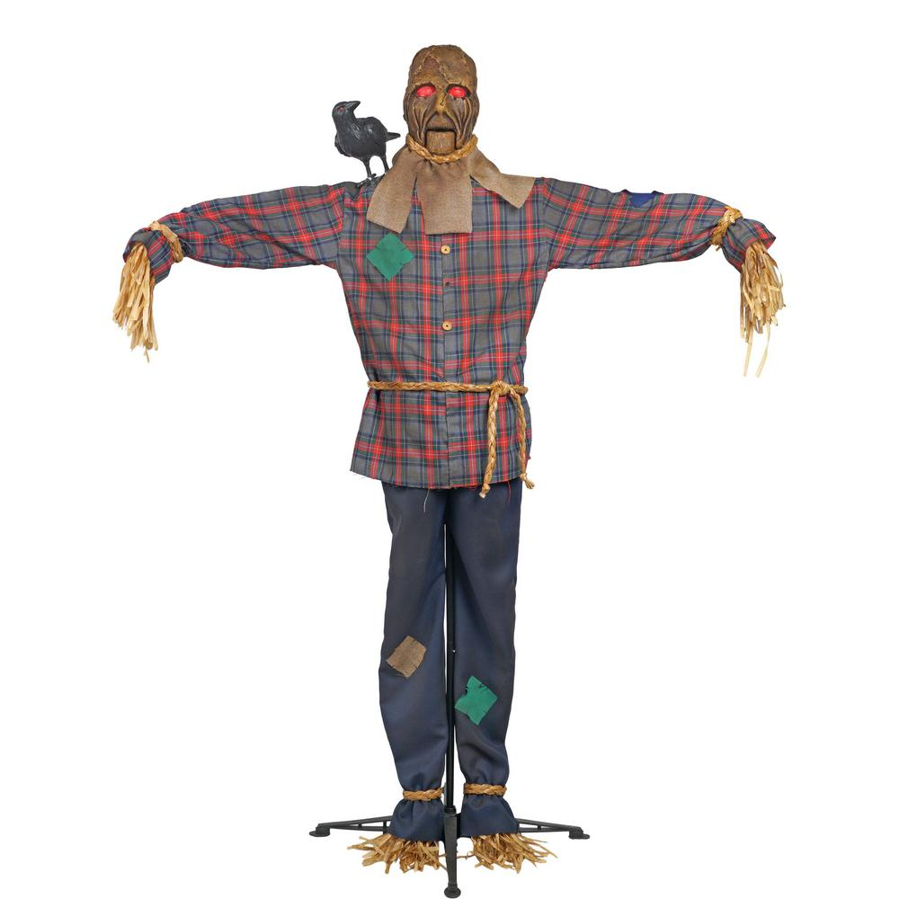 Home Accents Holiday 6 Ft Standing Scarecrow With Led