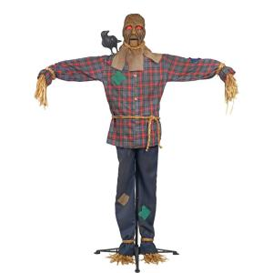 Home accents holiday 6 ft standing scarecrow with led for Home depot halloween decorations 2013