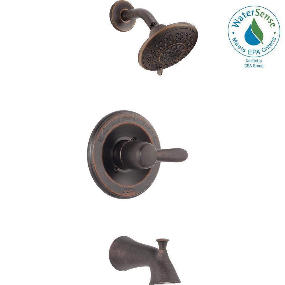 Lahara 1-Handle Tub and Shower Faucet Trim Kit Only in Venetian
