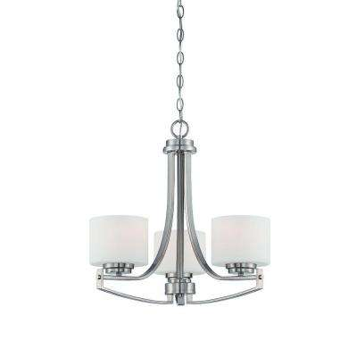 Axel 3-Light Satin Platinum Chandelier