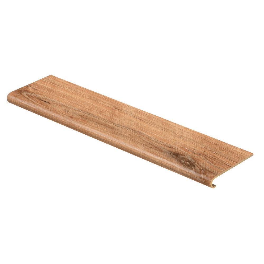 Fresh Oak/Elk Wood 47 in. Length x 12-1/8 in. Deep x 1-11/16 in. Height Vinyl to Cover Stairs 1 in. Thick