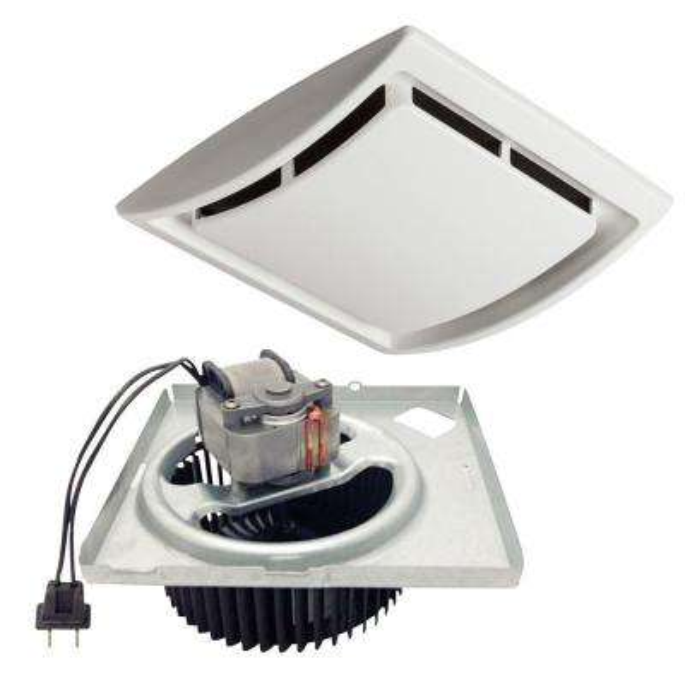 QuicKit 60 CFM 2.5 Sones 10 Minute Bathroom Exhaust Fan Upgrade Kit