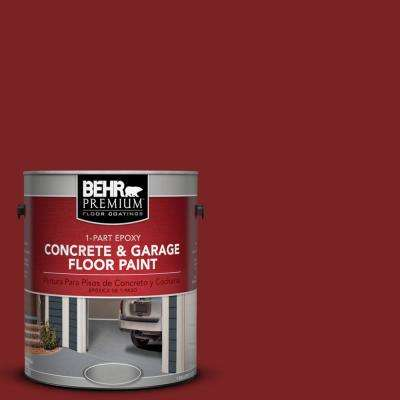 1 gal. #SC-112 Barn Red 1-Part Epoxy Concrete and Garage Floor Paint