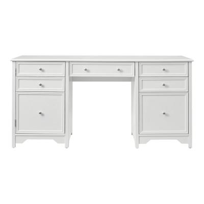Bradstone 63 in. White Executive Desk