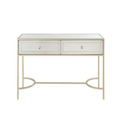Wisteria Mirrored and Rose Gold Sofa Table