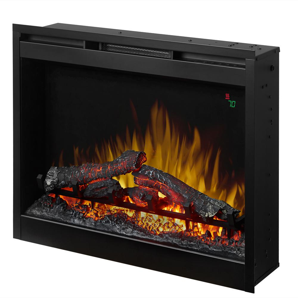 dimplex 26 in electric firebox fireplace insert dfr2651l the home rh homedepot com  wood burning fireplace firebox insert