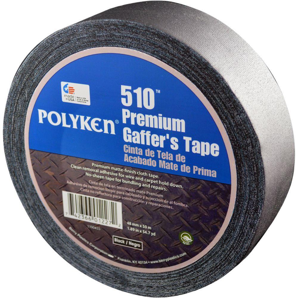 1.89 in. x 54.7 yds. 510 Professional-Grade Gaffer Tape in Black