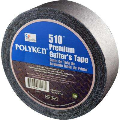 1.89 in. x 54.7 yd. 510 Professional-Grade Gaffer Tape in Black