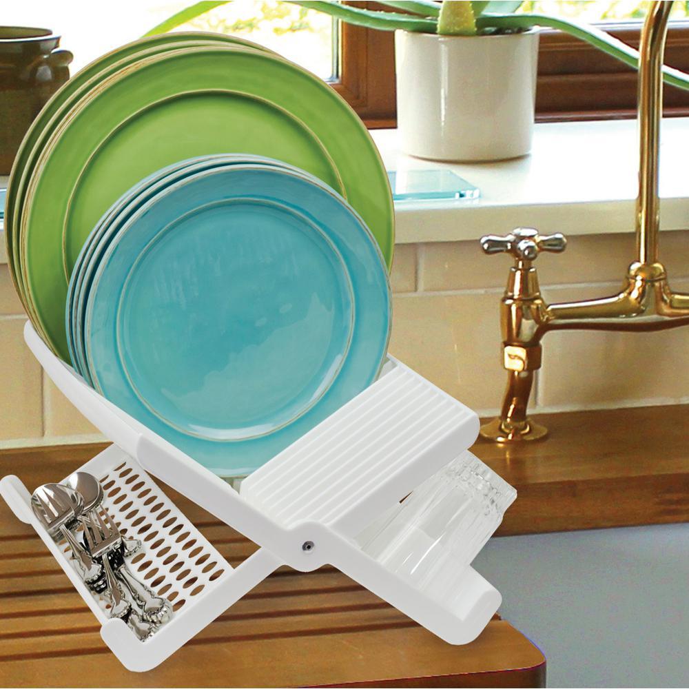 White Folding Dish Rack