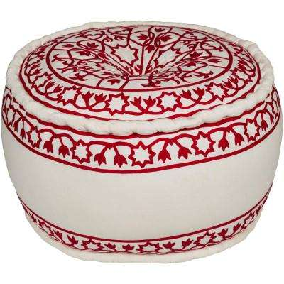 Callcott Red Accent Pouf