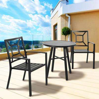 3-Piece Metal Bistro Furniture Set