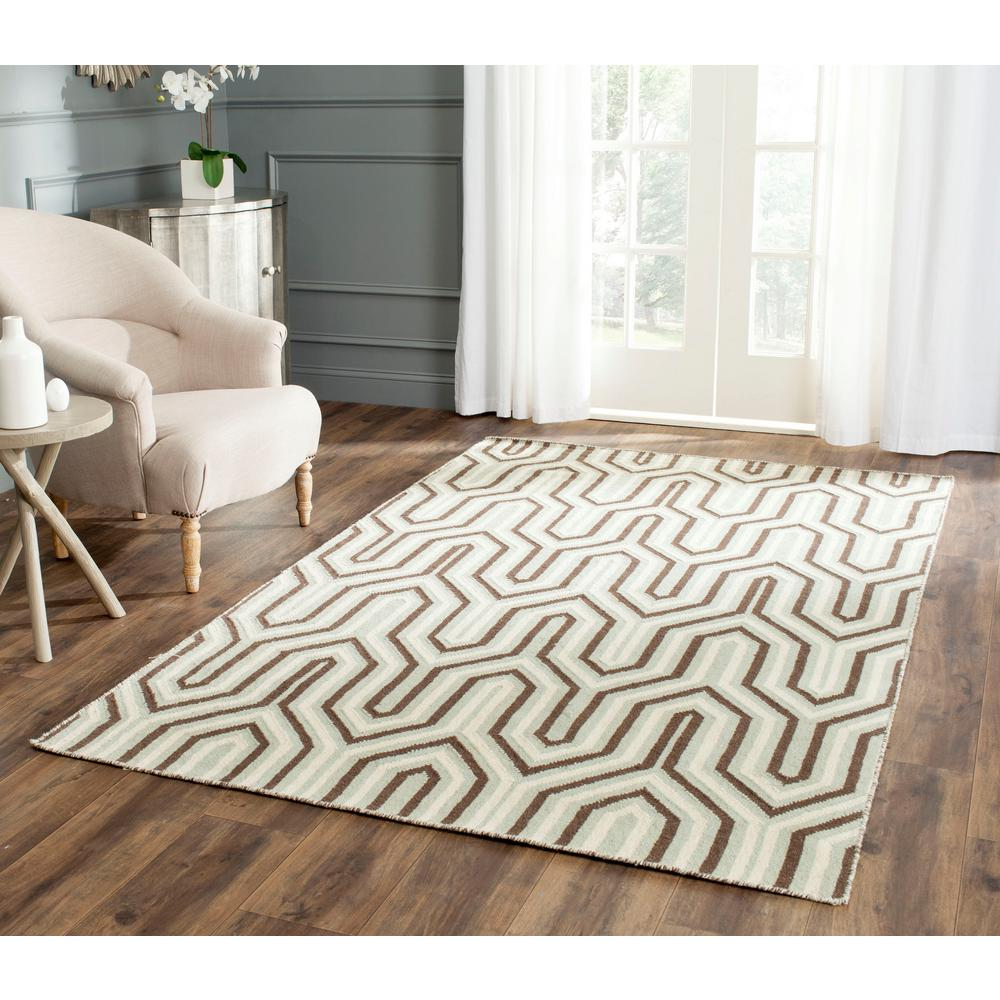 Dhurries Gray/Multi 6 ft. x 9 ft. Area Rug