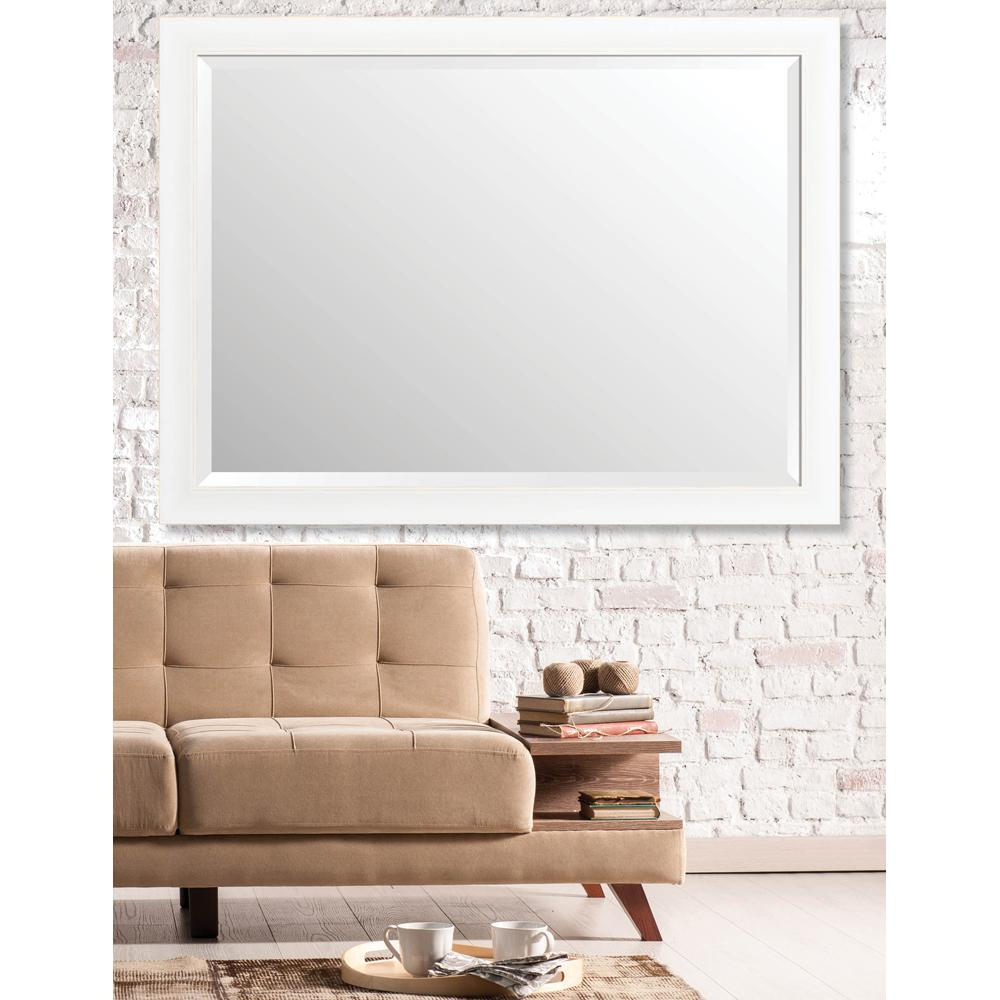 Larson-Juhl Acadia 35 in. x 47 in. Transitional Framed Bevel Mirror ...