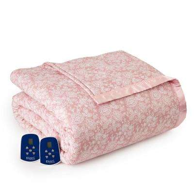 King/Cal King Enchantment-Rose Electric Heated Comforter/Blanket