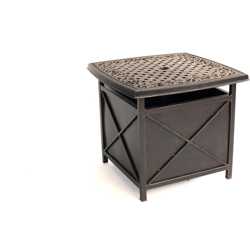 Traditions 46.96 lb. Aluminum Patio Umbrella Base in Oil-Rubbed Bronze