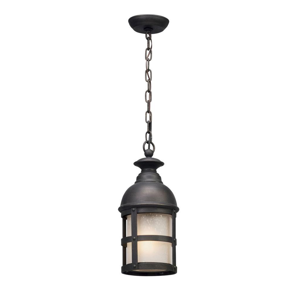 Webster 1-Light Vintage Bronze Outdoor Pendant