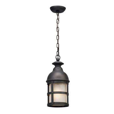 Webster 1-Light Vintage Bronze Outdoor Pendant