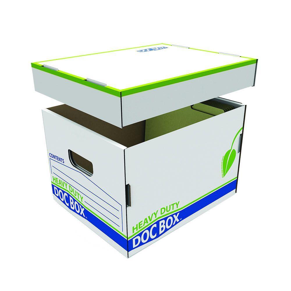 Pratt Retail Specialties 15 in. L x 10 in. W x 12 in. D Heavy-Duty Document Box with Handles