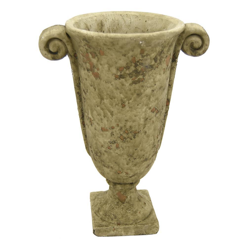 10 in. Medium Gray Footed Urn