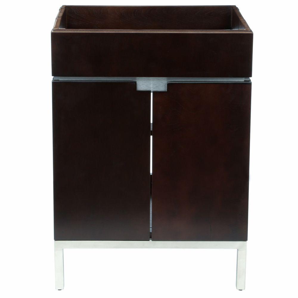 Studio 22 in. Vanity Cabinet Only in Espresso