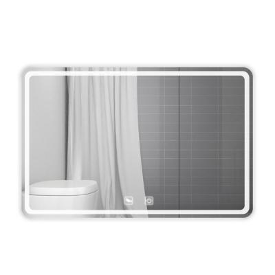28 in. W x 36 in. H Single Frameless Rectangular LED Light with 2 Color and Anti-Fog Bathroom Vanity Mirror