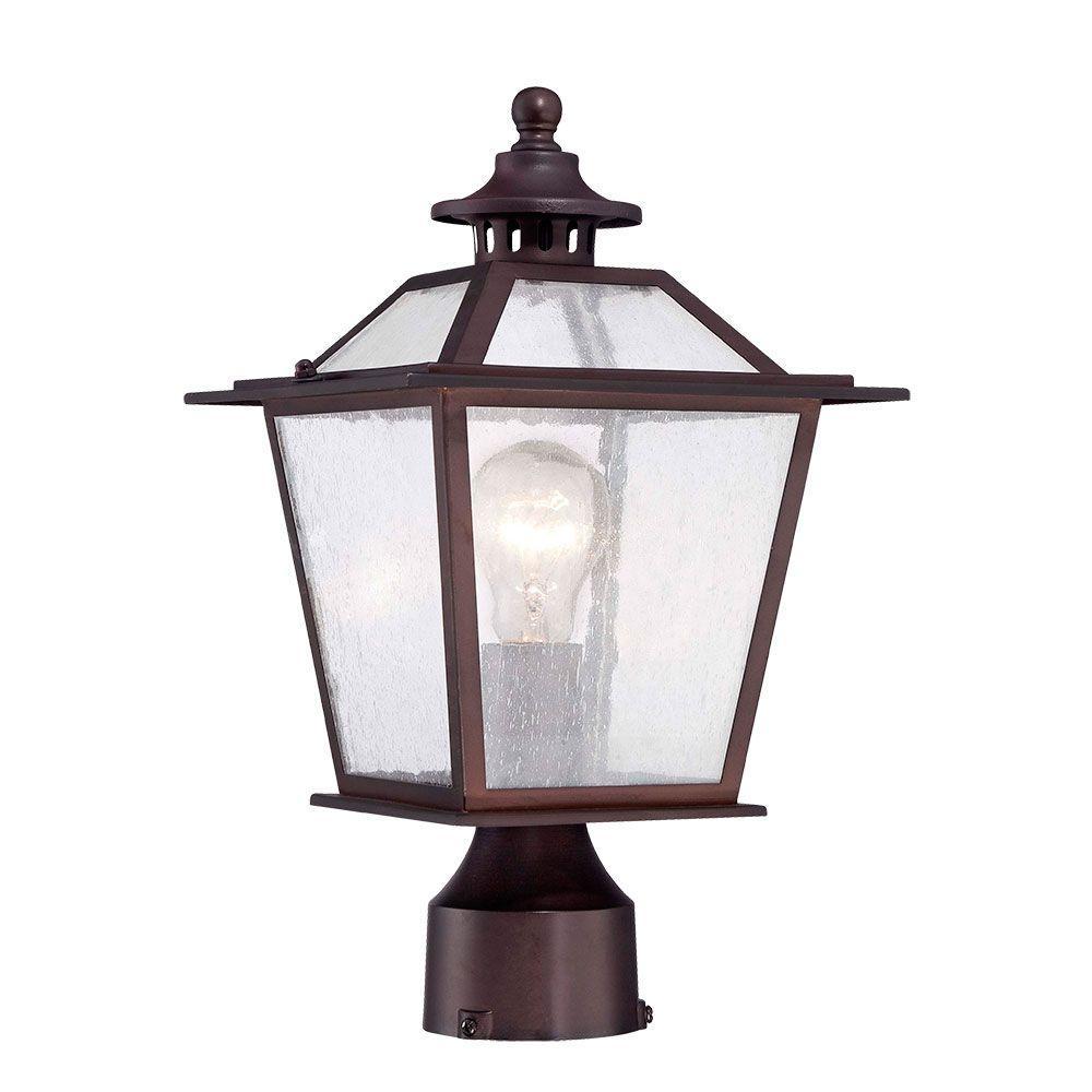 Salem Collection 1-Light Architectural Bronze Outdoor Post-Mount Light