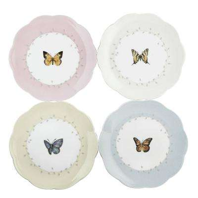 Butterfly Meadow Multi Color Dessert Plates (Set of 4)