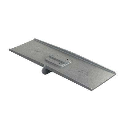 24 in. x 8 in. Square End Aluminum Flying Groover 5/8 in. x 1-1/2 in. Double Bit