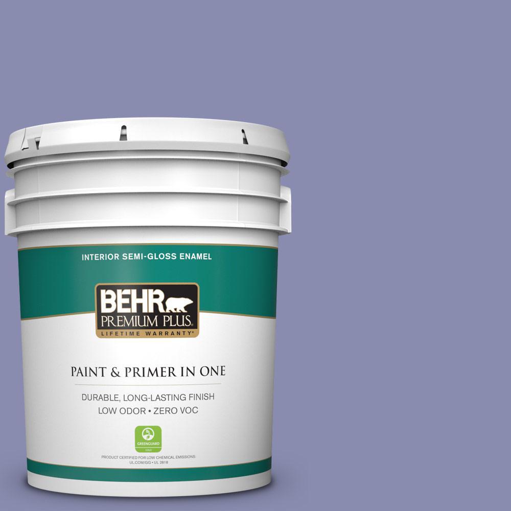 BEHR Premium Plus 5-gal. #M550-5 Violet Aura Semi-Gloss Enamel Interior Paint