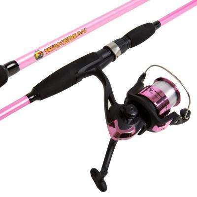 Strike Series Spinning Rod and Reel Combo in Hot Pink