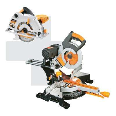 10 in. Multipurpose Double Bevel Corded Sliding Miter Saw with 7-1/4 in. Multipurpose Circular Saw