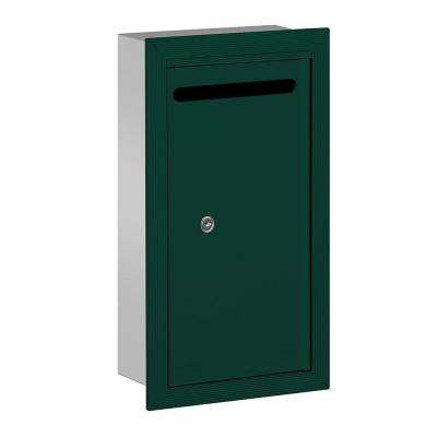 2260 Series Green Slim Recessed-Mounted Private Letter Box with Commercial Lock