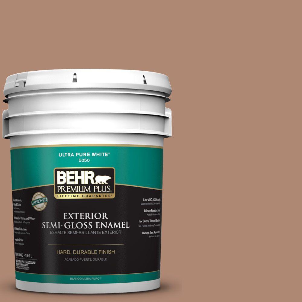 BEHR Premium Plus 5-gal. #S200-5 Minestrone Semi-Gloss Enamel Exterior Paint