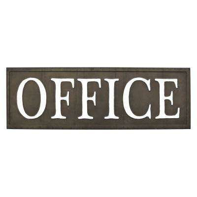 Black Metal Novelty Sign-Office