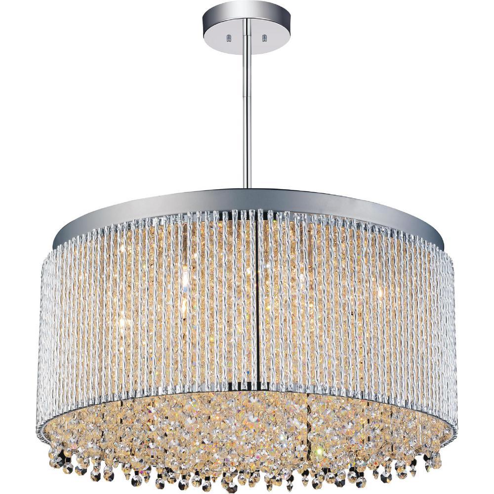 Claire 12-light chrome chandelier