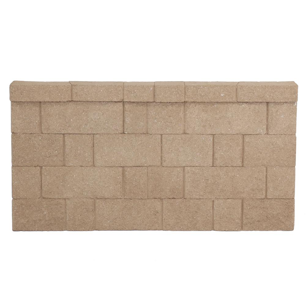 31 5 in  H x 6 in  D Brown Fiberglass Landscape Retaining Wall Straight  Panel (1-Piece)